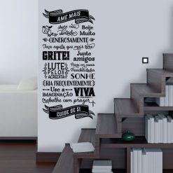 ABC da vida em vinil autocolante decorativo de parede