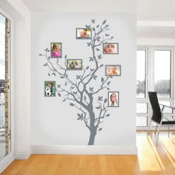 Árvore com molduras autocolante decorativo de parede.