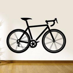 Bicicleta de ciclista. Autocolante decorativo de parede.