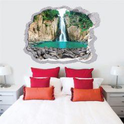Buraco Cascata,vinil autocolante decorativo.