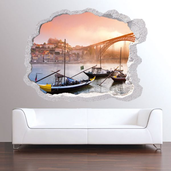 Buraco cidade Porto, vinil autocolante decorativo.