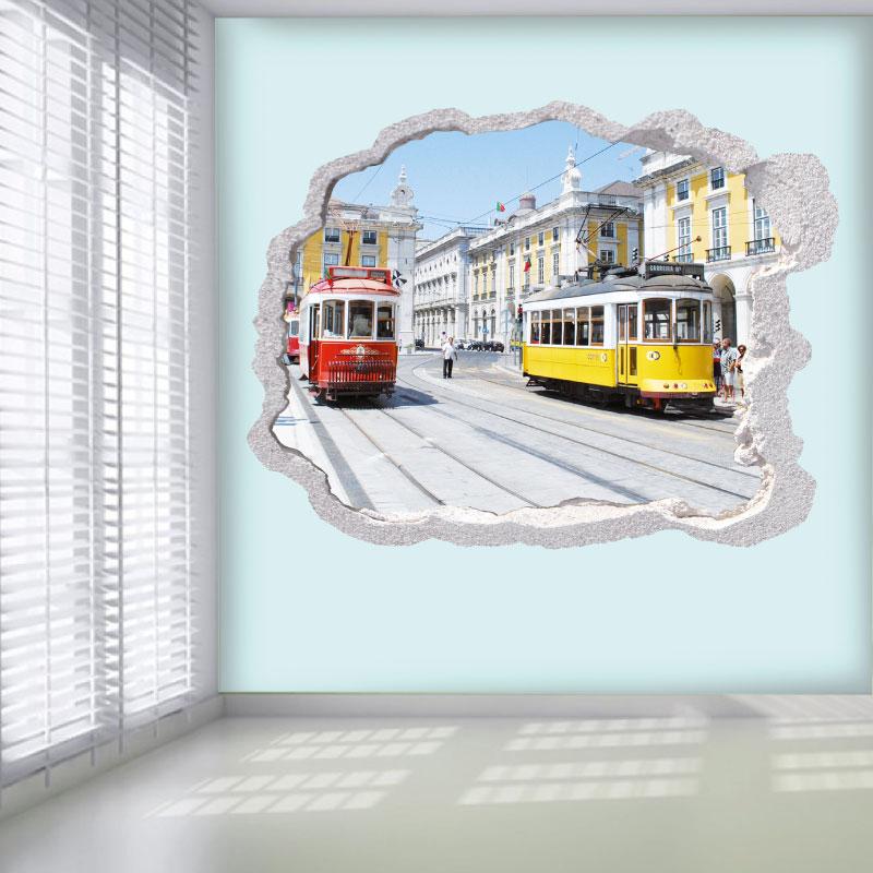 Buraco eléctricos Lisboa, vinil autocolante decorativo.