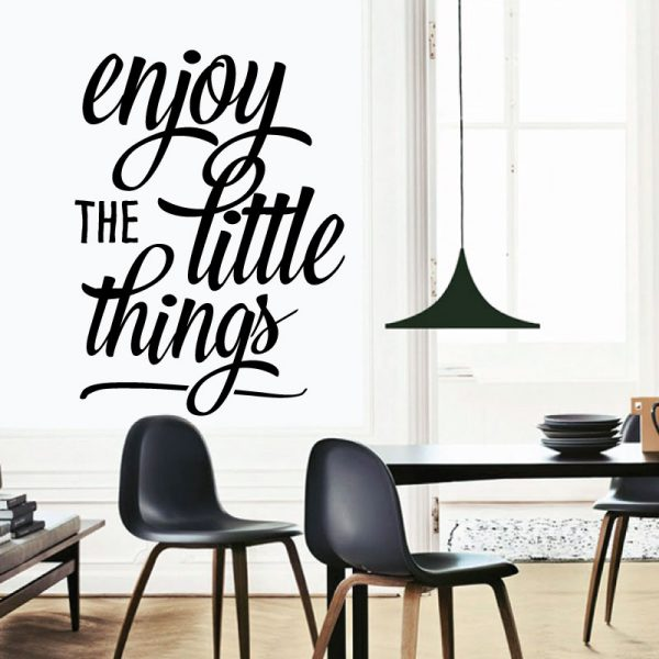 Enjoy the little things, vinil autocolante decorativo de parede.