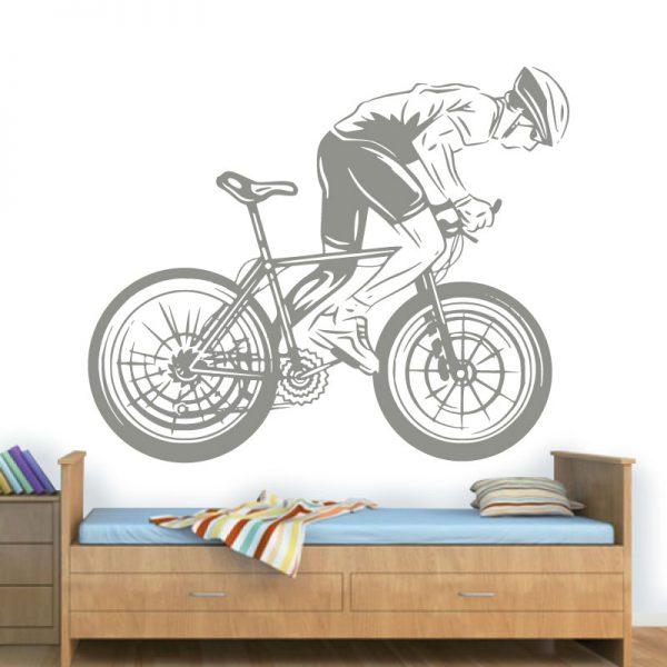 Ciclista. Autocolante decorativo de parede.