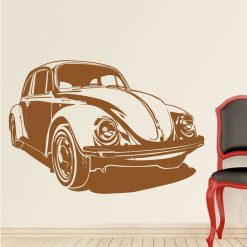 Carocha volkswagen em vinil autocolante decorativo de parede.