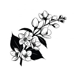 Flor Perfeita em vinil autocolante decorativo de parede
