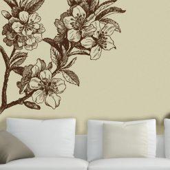 Flor Vintage em vinil autocolante decorativo de parede