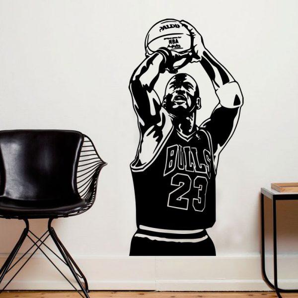 Jogador de basquetebol. Autocolante decorativo de parede