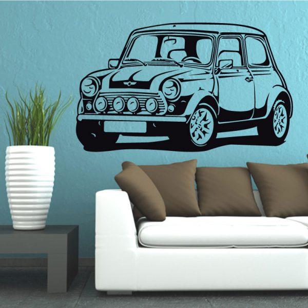 Mini Cooper em vinil autocolante decorativo de parede.