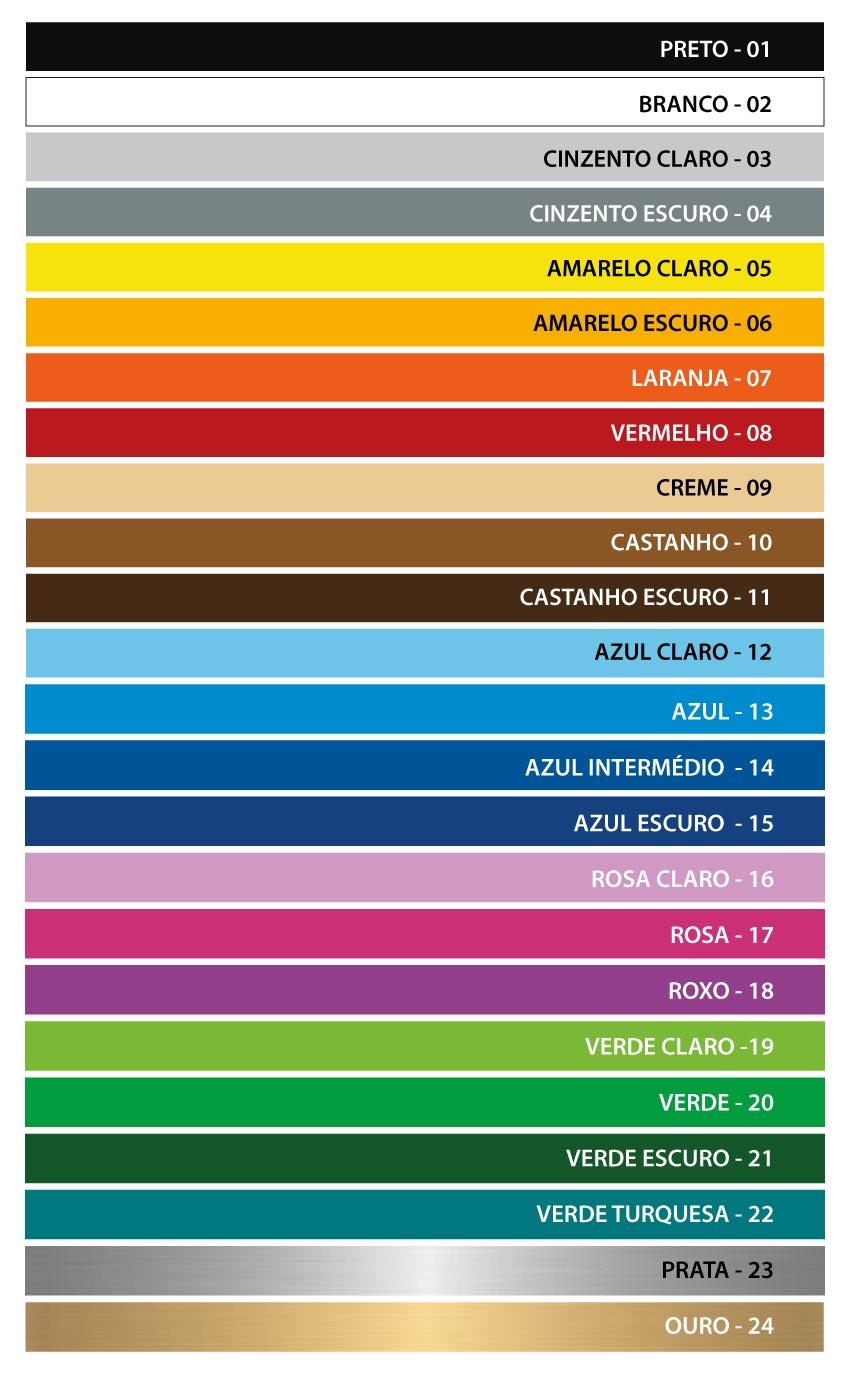 Tabela de cores pagina