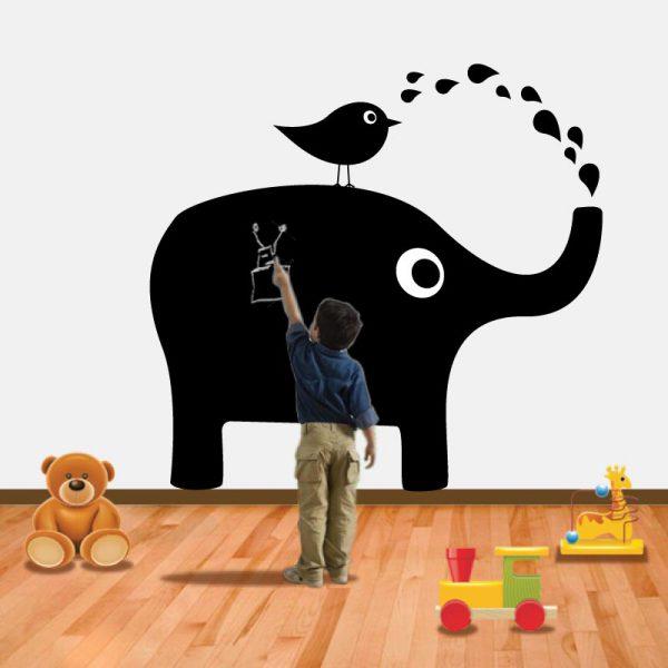 Elefante Ardósia em vinil autocolante decorativo ardósia
