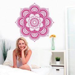 Mandala em vinil autocolante decorativo de parede