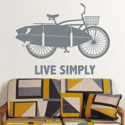 Live Simply em vinil autocolante decorativo de parede