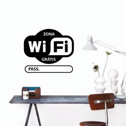 Wifi Password com Password  personalizada em vinil autocolante decorativo