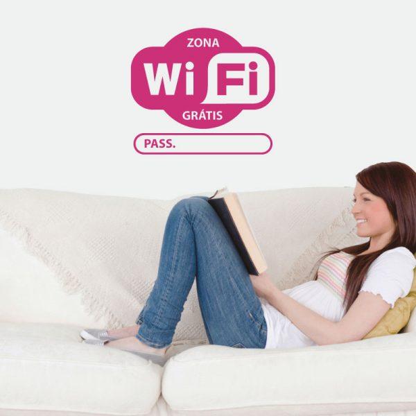 Wifi Password comPassword personalizada em vinil autocolante decorativo
