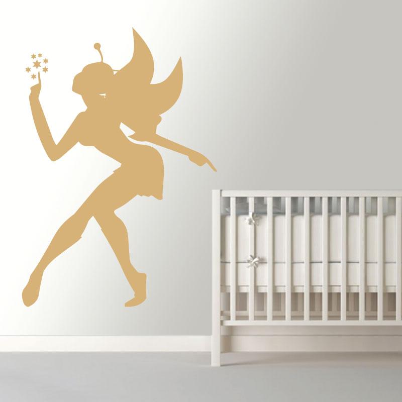 Fada encantada em vinil autocolante decorativo para decoração Infantil.
