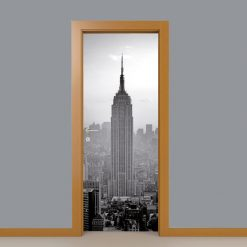 Empire State Building Porta em vinil autocolante decorativo para portas e paredes