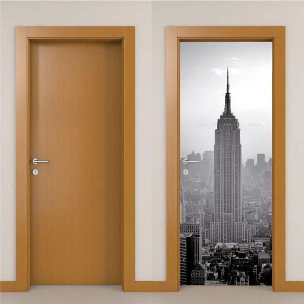Empire State Building Porta em vinil autocolante decorativo para portas e paredes.