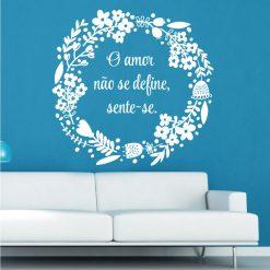 O amor não se define sente-se autocolante de parede