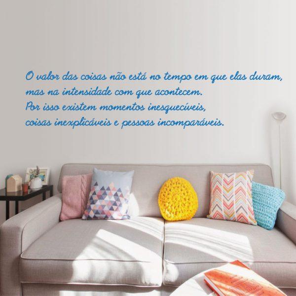 O valor das coisas vinil autocolante decorativo de parede