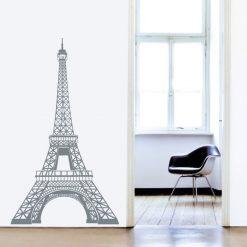 Torre Eiffel autocolante de parede decorativo. Autocolante fácil de aplicar
