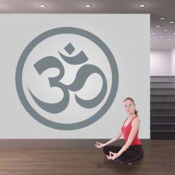 Yoga OM símbolo, autocolante de parede decorativo