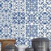 Azulejos Portugueses monocromáticos (Pack de 30 unidades) em vinil autocolante decorativo de parede