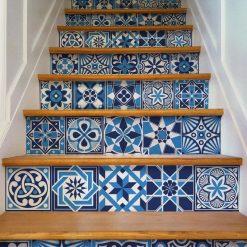 azulejos em tons de azul portugueses