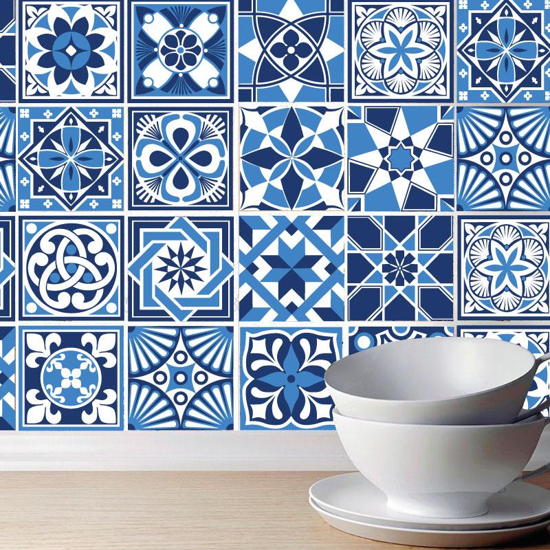 Azulejos em tons de azul portugueses pack de 30 for Azulejos decorativos