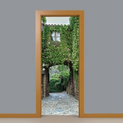 Arcada com vegetação Porta, em vinil autocolante decorativo para portas e paredes. Aplique esta imagem em qualquer superfície lisa.