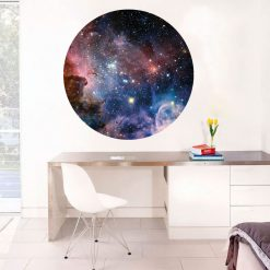 Galáxia, vinil autocolante de parede decorativo impresso e recortados