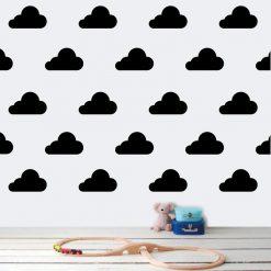 Pack autocolante decorativo nuvens para decoração infantil.