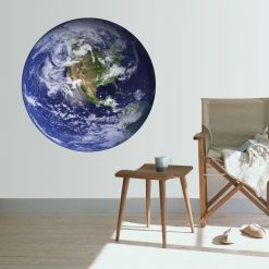 Planeta terra, vinil autocolante de parede decorativo impresso e recortados