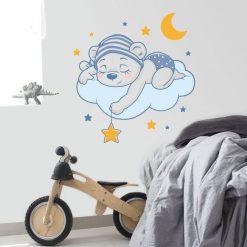 Ursinho a dormir,autocolante infantil de parede.Aplique esta imagem em qualquer superfície lisa.