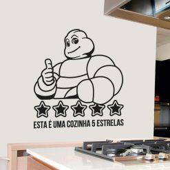 Esta é uma cozinha cinco estrelas, autocolante decorativo para cozinhas.