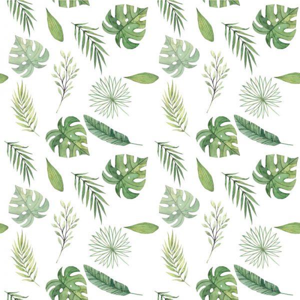 Plantas verdes aguarela mural de parede em vinil autocolante decorativo