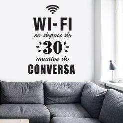 WI-FI só depois de 30 minutos de conversa autocolante de parede