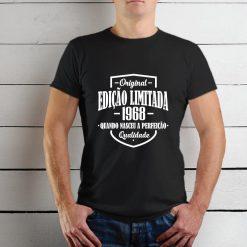 T-shirt Edição Limitada com a sua data de nascimento personalizada.T-Shirts para Homem