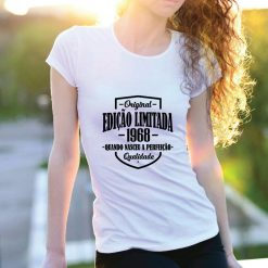 T-shirt Edição Limitada com a sua data de nascimento personalizada