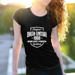 T-shirt Edição Limitada com a sua data de nascimento personalizada. T-Shirts para Mulher