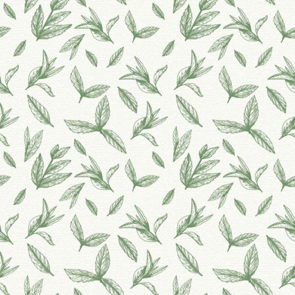 Mural de parede floral verde azeitona em vinil autocolante decorativo. Aplique esta imagem em qualquer superfície lisa e sem textura.