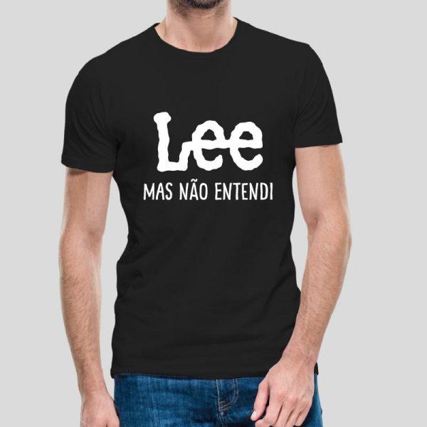 T-shirt Lee mas não entendi.T-Shirts para Homem100% Algodão, moderna e básica de manga curta com visual contemporâneo
