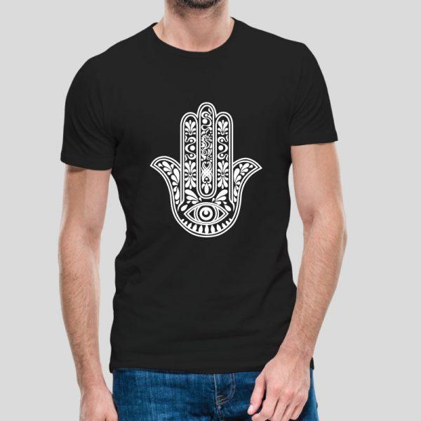 T-shirt Mão de Fátima.T-Shirts para Homem com visual contemporâneo.
