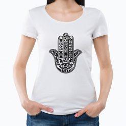T-shirt Mão de Fátima. T-Shirts para Mulher com visual contemporâneo.