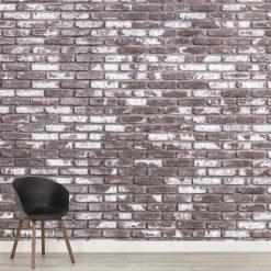 Mural de parede Tijolo fábrica em vinil autocolante decorativo. Aplique esta imagem em qualquer superfície lisa e sem textura.