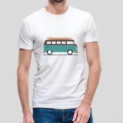 T-shirt Pão de forma van. T-Shirts unissexo 100% Algodão, moderna e básica de manga curta com visual contemporâneo