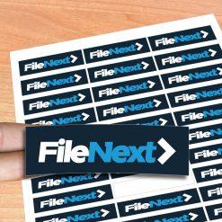 Stickers adesivos noformato retangular. Desenhe os seus autocolantes e nós imprimimos agora é fácil e rápido