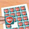 Stickers adesivos noformato quadrado. Desenhe os seus autocolantes e nós imprimimos agora é fácil e rápido.