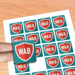 Stickers adesivos noformato quadrado. Desenhe os seus autocolantes e nós imprimimos agora é fácil e rápido