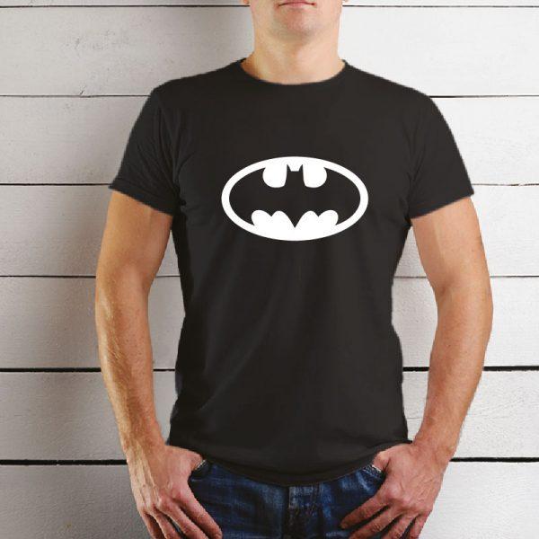 T-shirt Batman, unissexo 100% Algodão, moderna e básica de manga curta com visual contemporâneo